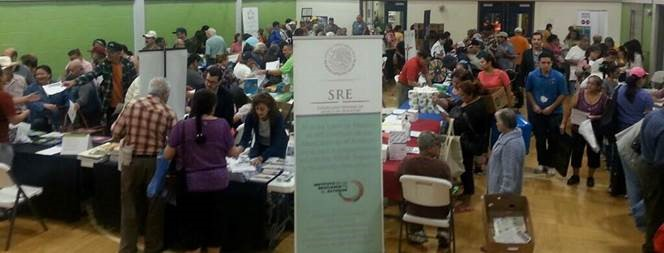 Mexican Consulate representatives at a health fair at Cleveland Ripley Neighborhood Center on Oct. 6